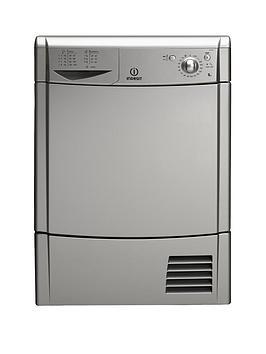 indesit-idc85s-8kg-load-condenser-dryer-silver