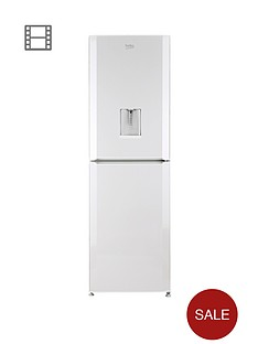 beko-cfd6914apw-60cm-frost-free-fridge-freezer-with-water-dispenser-white