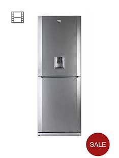 beko-cfd6914aps-60cm-frost-free-fridge-freezer-silver-next-day-delivery