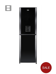 beko-cfd6914apb-60cm-frost-free-fridge-freezer-with-water-dispenser-black