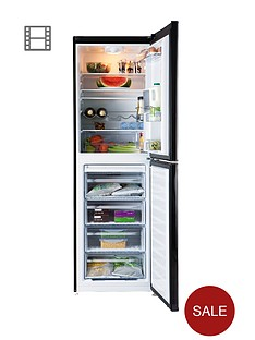 beko-cfd6914apb-60cm-frost-free-fridge-freezer-black-next-day-delivery
