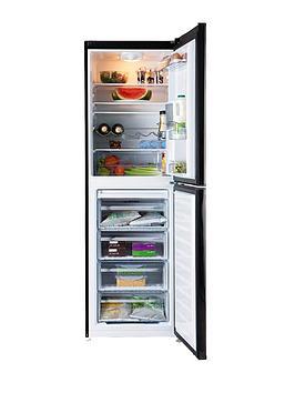 beko-cfd6914apb-60cm-frost-free-fridge-freezer-black-next-day-delivery