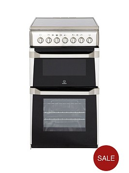 indesit-it50c1xxs-50-cm-twin-cavity-electric-cooker