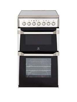 indesit-it50c1xxs-50cm-twin-cavity-electric-cooker-stainless-steel
