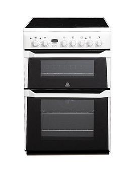 Indesit Id60C2Ws 60Cm Ceramic Hob Double Oven Electric Cooker  White