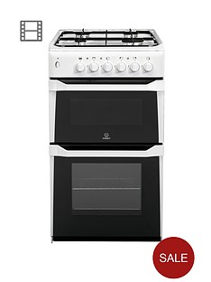 indesit-it50gw-50cm-twin-cavity-gas-cooker-white