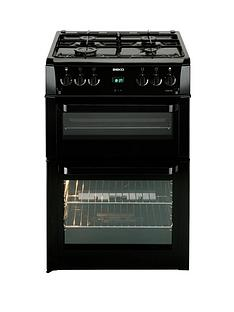 beko-bdvg694kp-60-cm-double-oven-gas-cooker-black