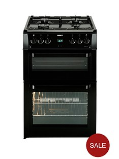 beko-bdvg694kp-60cm-double-oven-gas-cooker-black