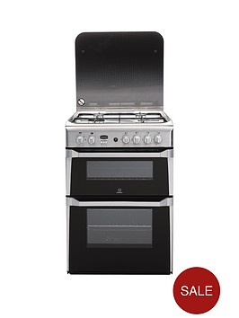 indesit-id60g2x-60-cm-double-oven-gas-cooker-stainless-steel