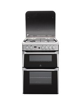 Indesit Id60G2X 60Cm Double Oven Gas Cooker With Fsd  Stainless Steel