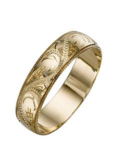 love-gold-9-carat-yellow-gold-patterned-wedding-band-5mm