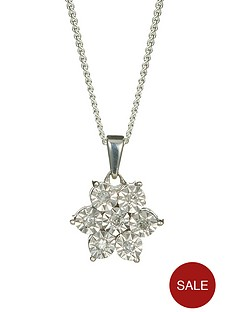 love-diamond-9-carat-white-gold-12-point-diamond-flower-pendant