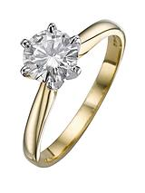 18 Carat Yellow Gold 1 Carat Solitaire Ring