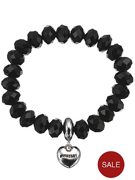 fiorelli-black-beaded-heart-drop-bracelet