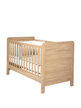 mamas-papas-rialto-cot-bed-oak-effect