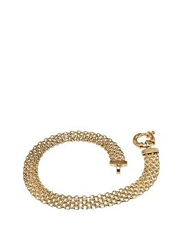 love-gold-9-carat-yellow-gold-bismark-bracelet