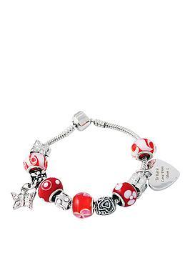 red-personalised-charm-bracelet