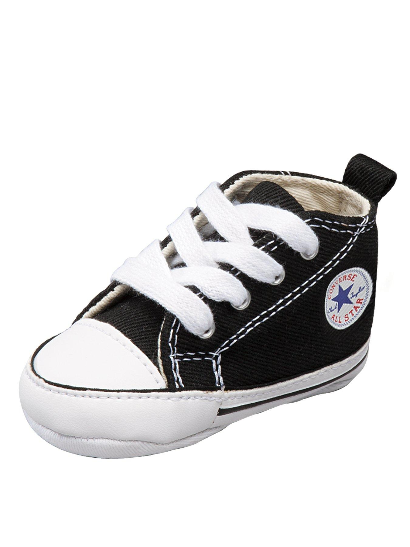 First Star Crib Shoes Black, Black