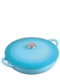 denby-azure-cast-iron-30-cm-shallow-casserole-dish