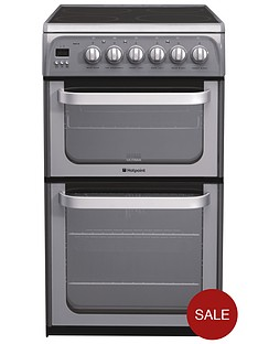 hotpoint-hue52gs-50-cm-double-oven-electric-cooker-graphite