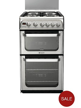 hotpoint-hug52x-50cm-gas-cooker-with-fsd-stainless-steel