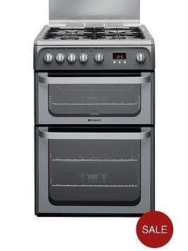 hotpoint-hug61g-60cm-gas-cooker-with-fsd-graphite