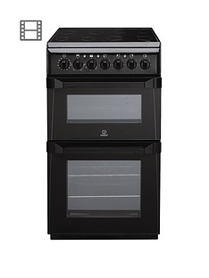 indesit-id50c1ks-50-cm-double-oven-electric-cooker-black