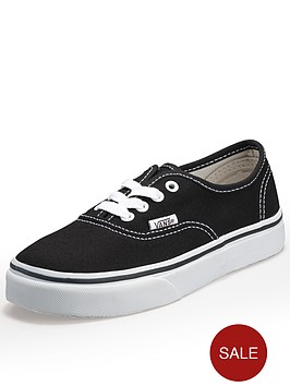 vans-authentic-junior-core-kids-trainers-black