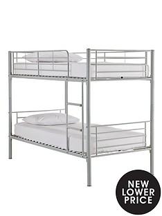 kidspace-domino-metal-bunk-bed-frame-with-optional-mattress