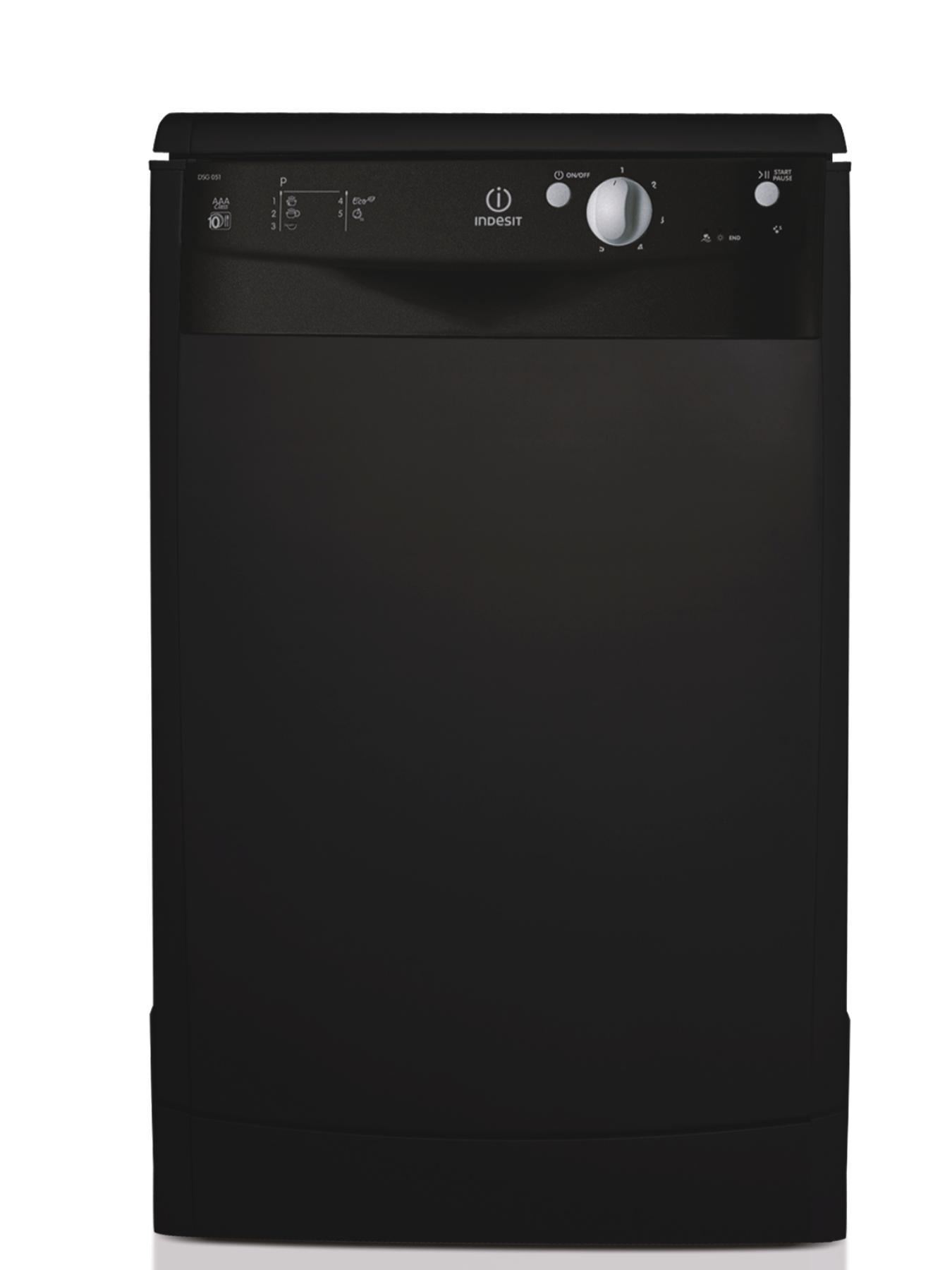 10 Place Slimline Dishwasher - Black