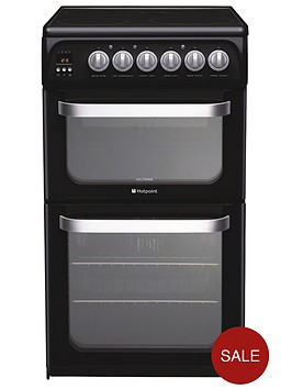 hotpoint-hue52k-50-cm-double-oven-electric-cooker-black