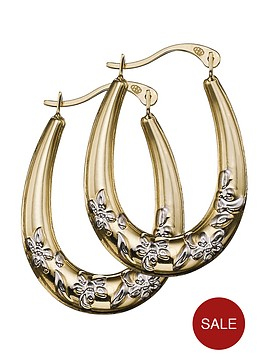 love-gold-9-carat-yellow-gold-2-colour-creole-earrings
