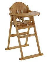 Wooden Folding Highchair - Natural