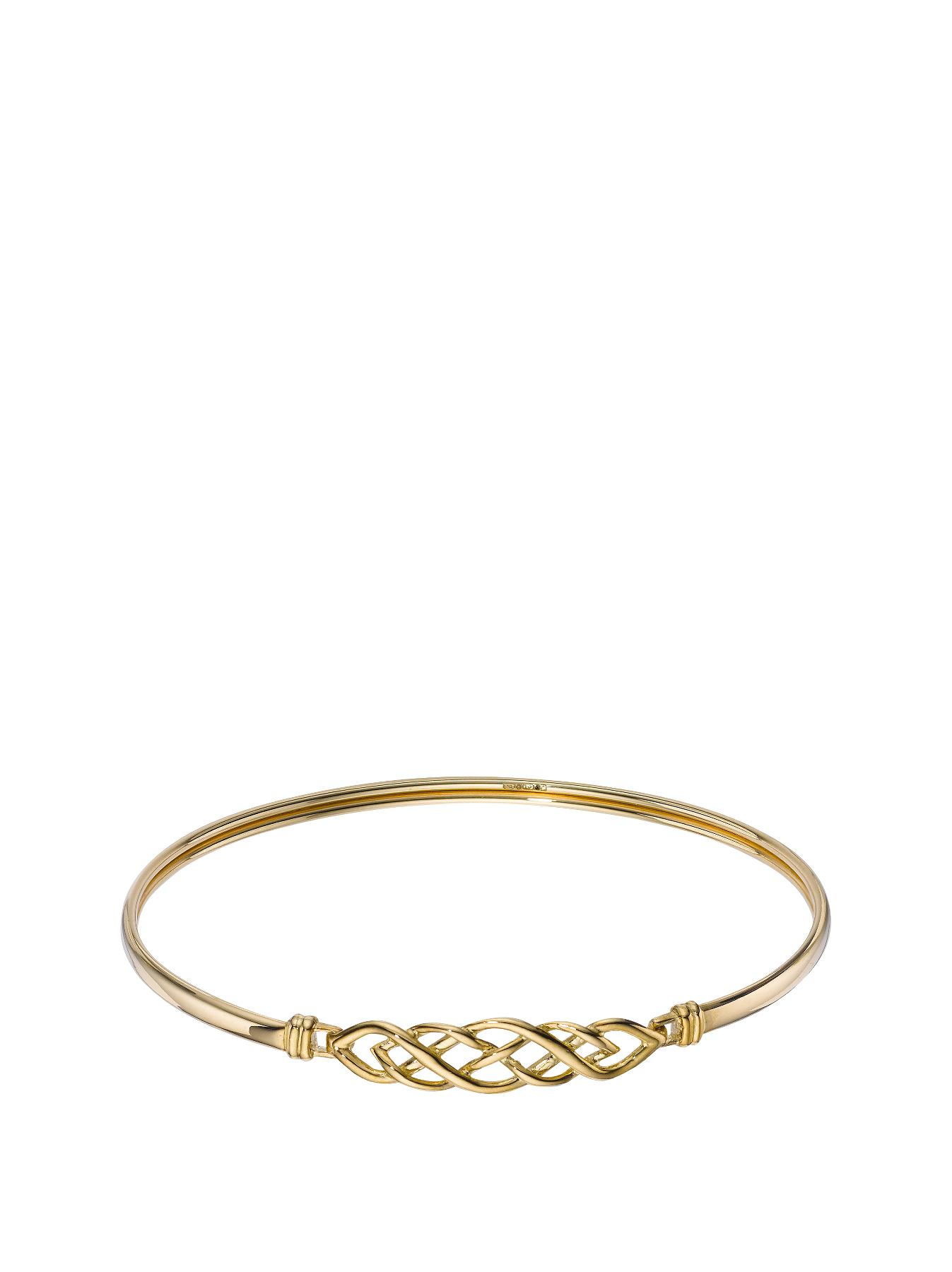 9 Carat Yellow Gold Celtic Bangle