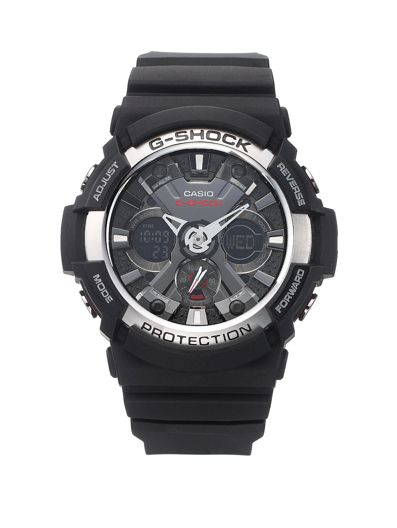 G-Shock Silver and Black Chronograph Mens Watch