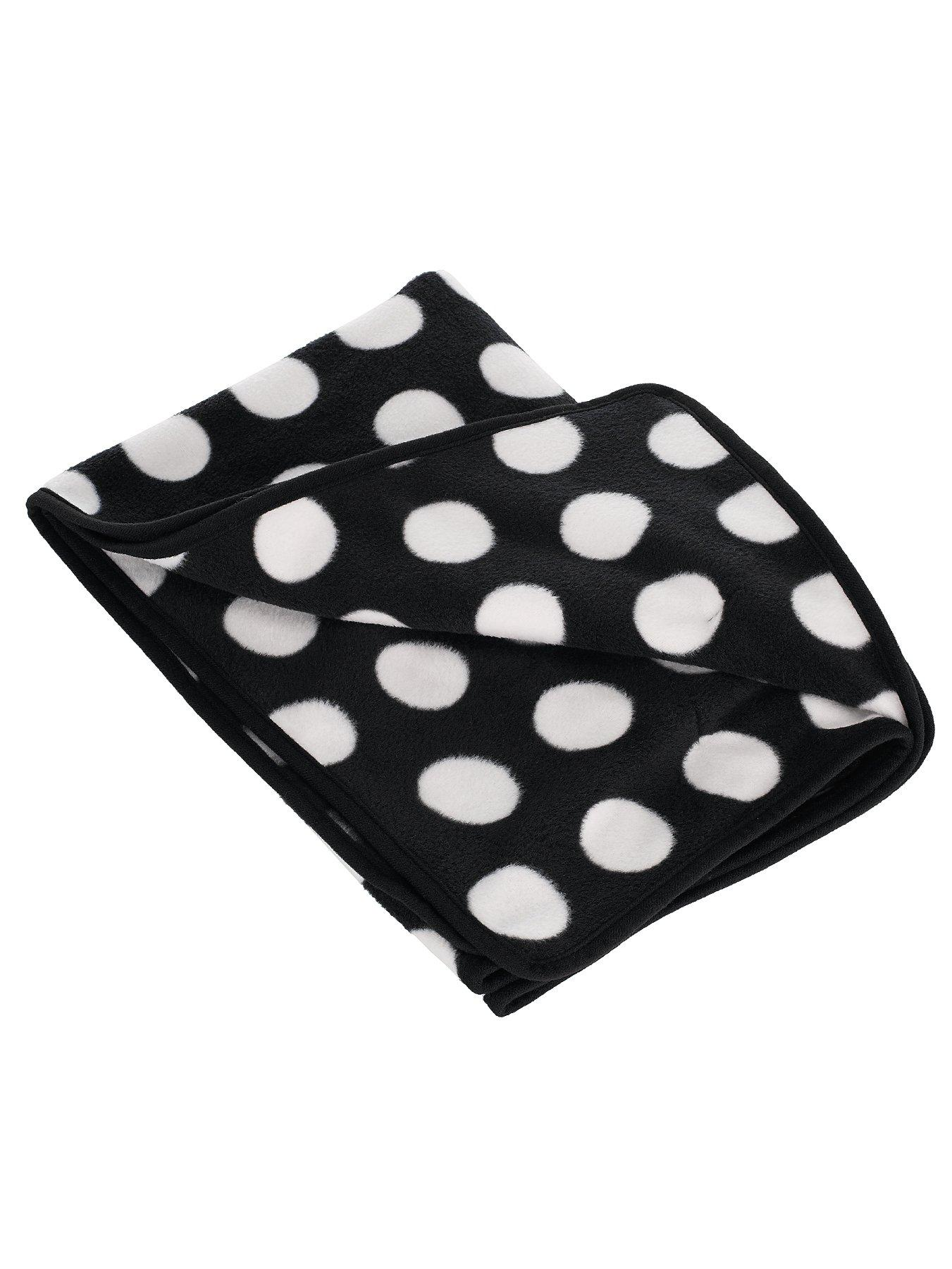 Dotty Fleece Pram Blanket