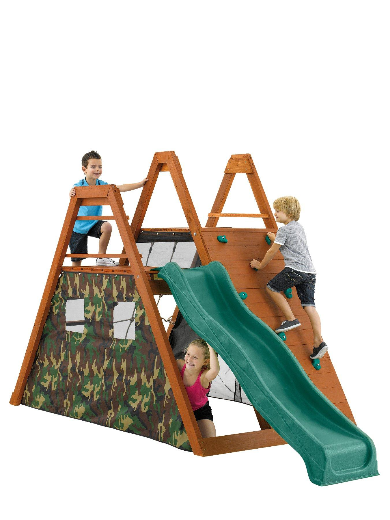 Climbing Pyramid Wooden Play Centre