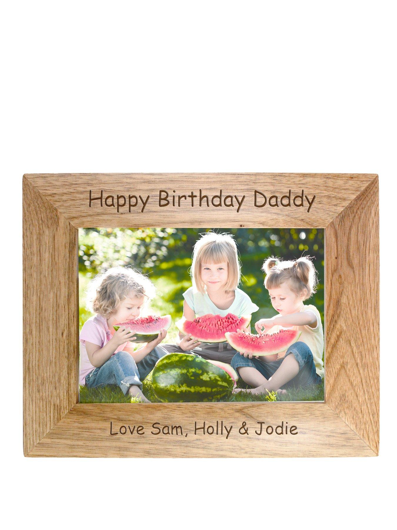 Personalised 6x4 inch Wooden Frame