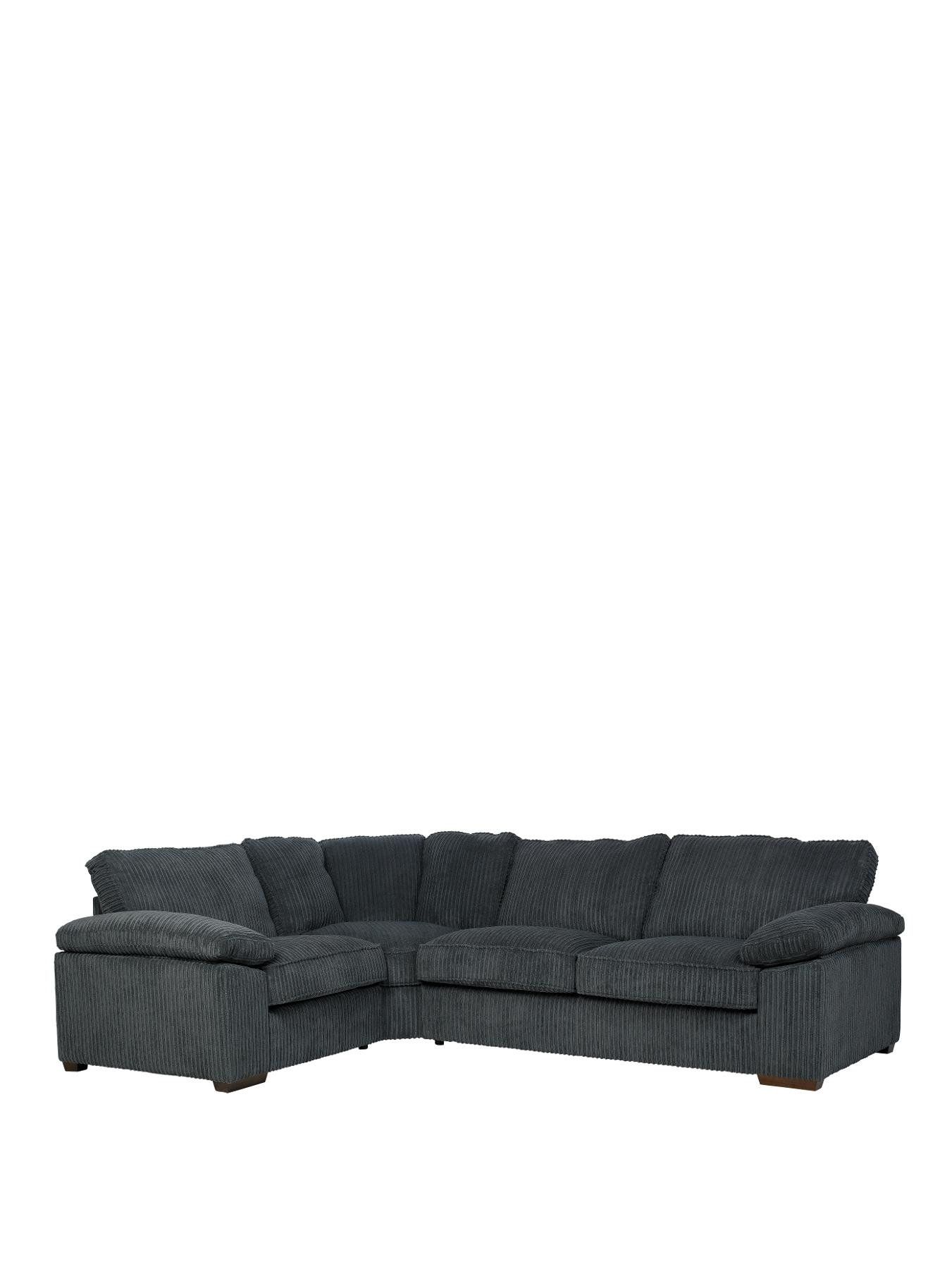 Gladstone Left-Hand Corner Group Sofa, Chocolate,Cream,Charcoal