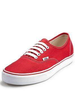 Vans Authentic Mens Plimsolls  Red