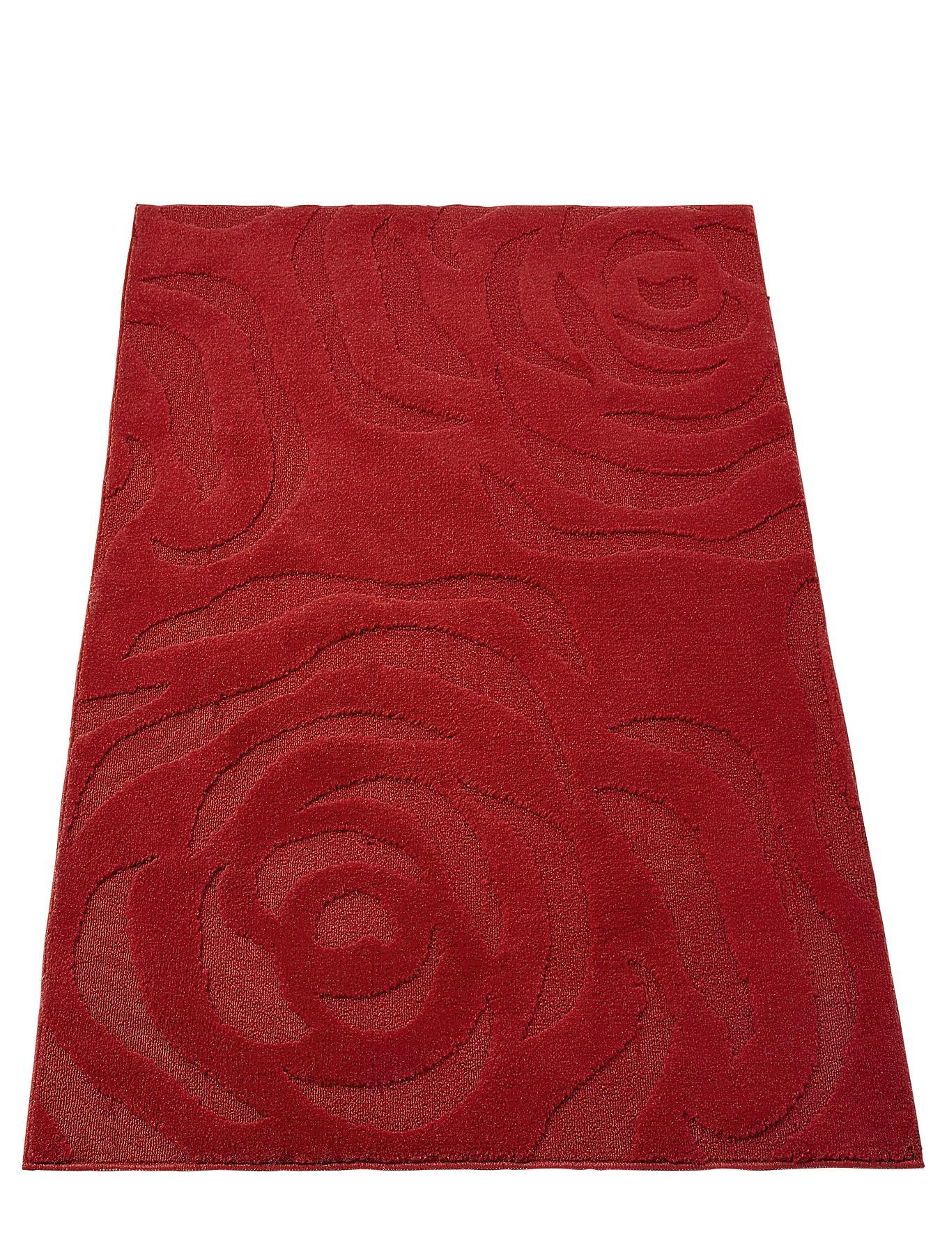Rose Washable Rug RedChocolate