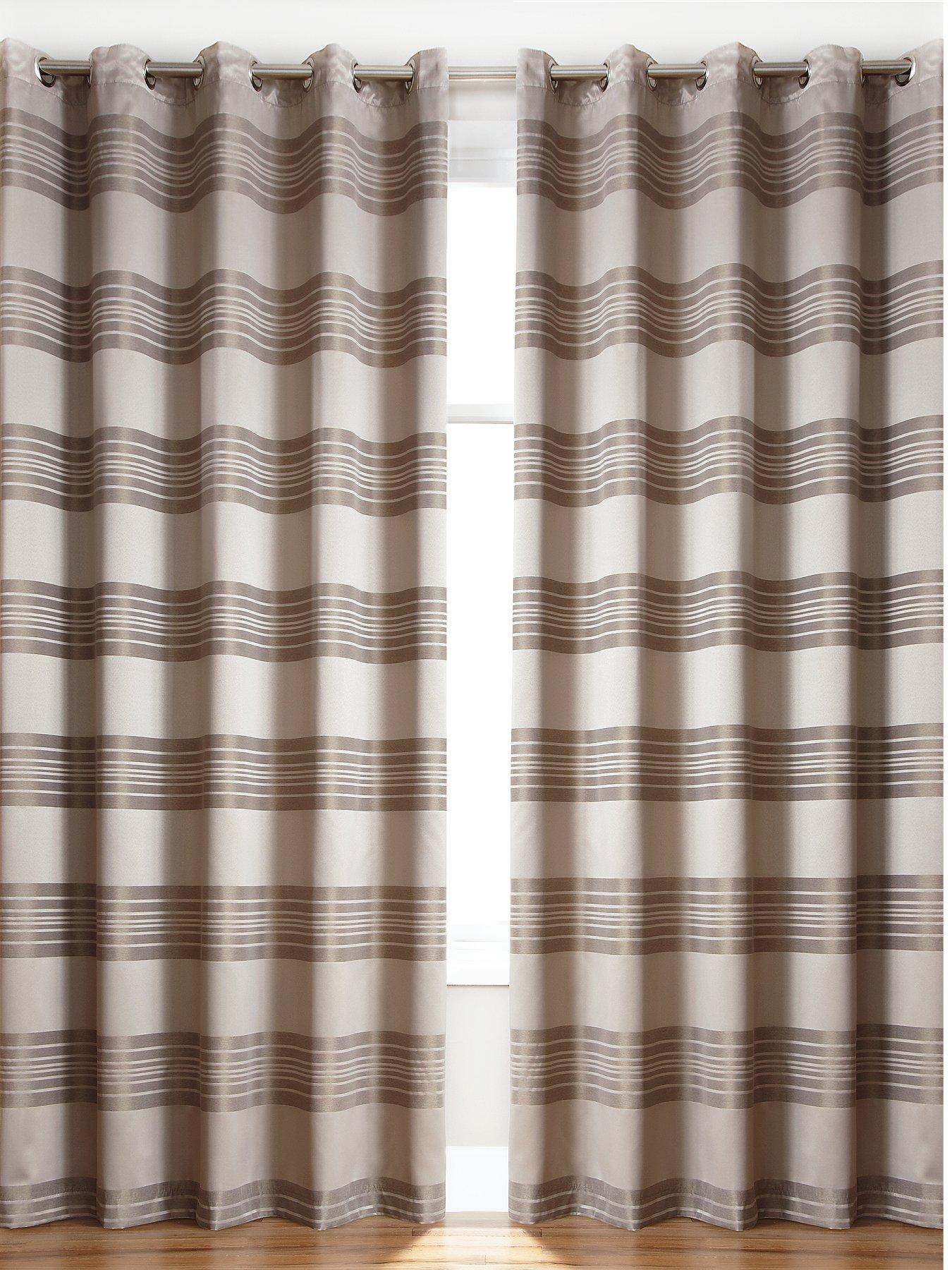 Paris Jacquard Eyelet Curtains, Silver