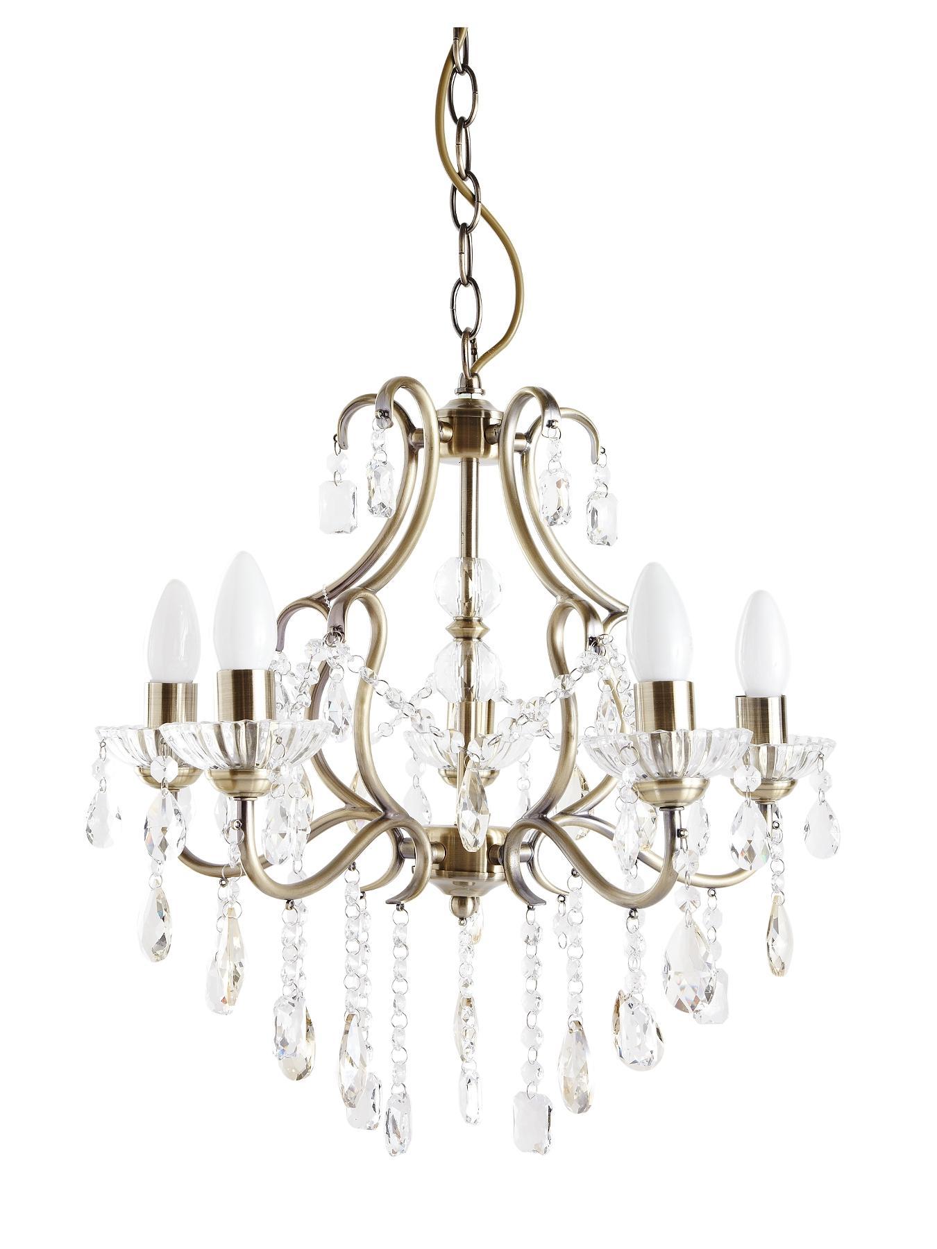 Glamdelier 5-Light Chandelier, Gold
