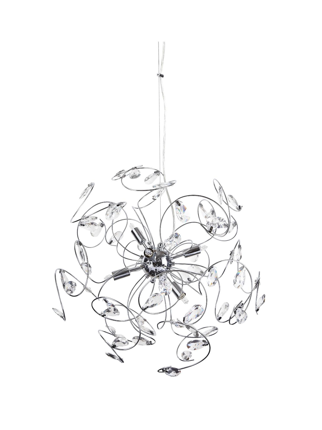 Splash Crystal 6-Bulb Ceiling Light Fitting