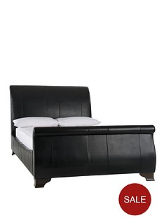 othello-faux-leather-bed-frame-with-optional-mattress