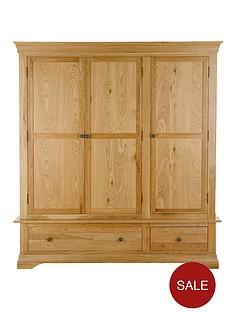 constance-solid-oak-3-door-2-drawer-wardrobe