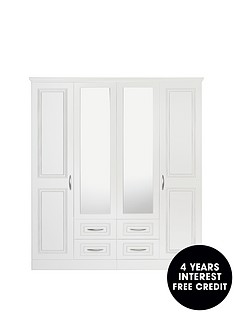 consort-dorchester-4-door-4-drawer-mirrored-wardrobe