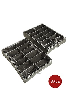 ideal-underbed-shoe-storage-organisers-2-pack
