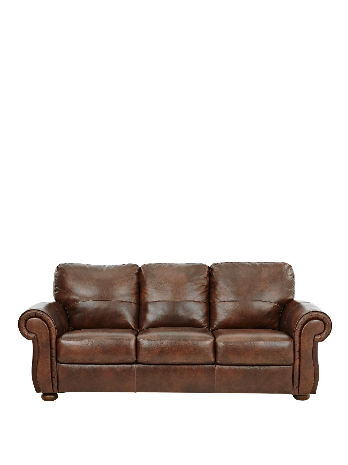 Cassina 3-Seater Italian Leather Sofa, Brown,Tan
