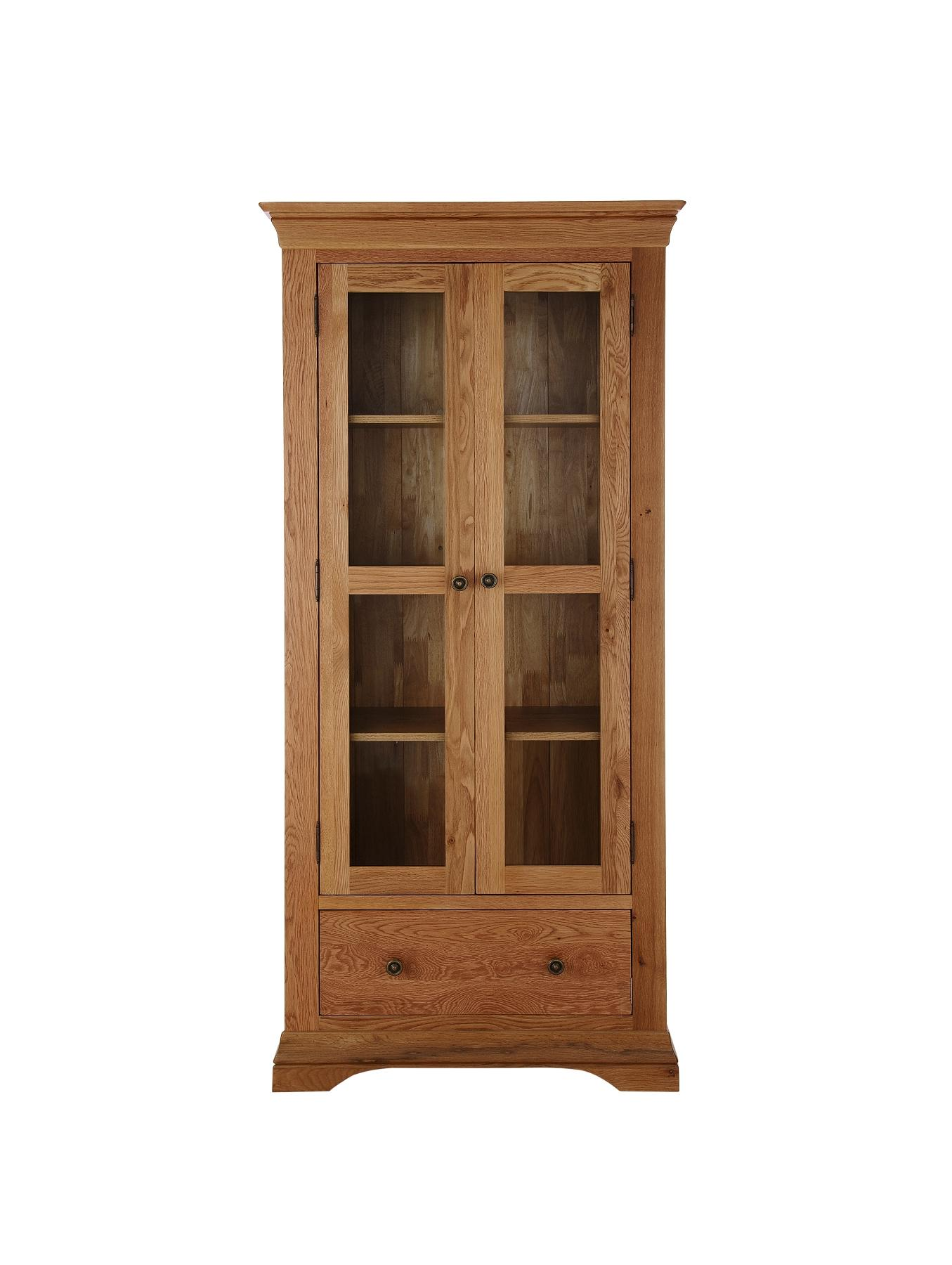 Constance Ready Assembled Solid Oak Display Cabinet
